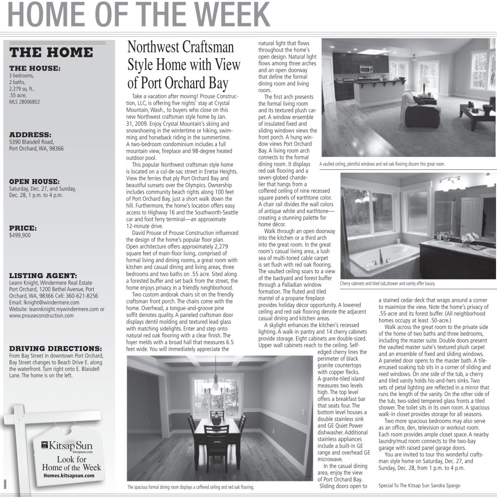 Home of the week article